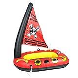 Eayse Aufblasbares Boot Der Kinder - Aufblasbares Piraten Schiffs Wasser Spielzeug Aufblasbares Sich Hin Und Herbewegendes Spielzeug