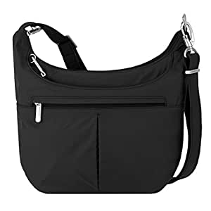 Travelon Anti-Theft Classic Slouch Hobo, Black, One Size