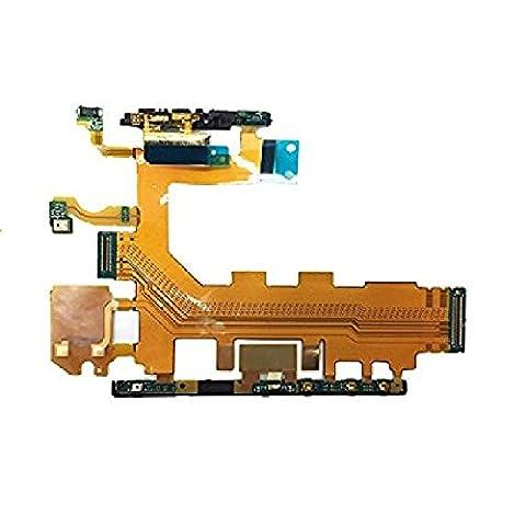 Nappe Volume Bouton Alimentation ON/OFF Microphone Flex Cable Sony Xperia Z2 D6503 D6502 D6543 Carte Mèr