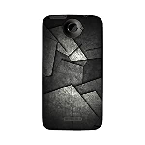 Abhivyakti Abstract Abstarct Grey Hard Back Case Cover For HTC One X