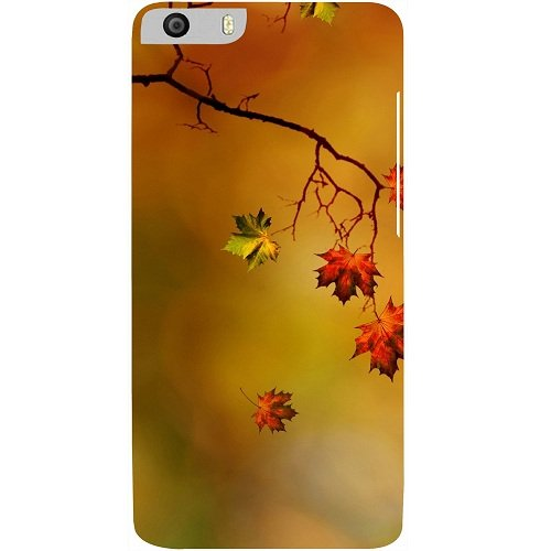 Casotec Colorful Leaves Print Design Hard Back Case Cover for Micromax Canvas Knight 2 E471