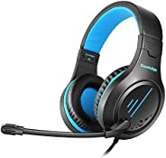 Cosmic Byte Blazar Headphone with Flexible Mic for PC, Mobiles, PS4, Xbox One, Tablets (Blue)