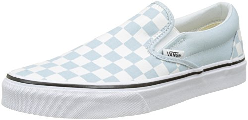Vans Classic Slip-On VEYEBWW - Zapatillas de deporte de tela unisex, color blanco (blk whtchckerbo), talla 36.5