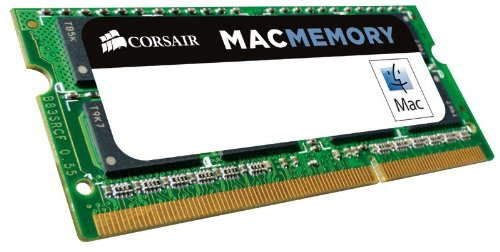 Corsair CMSA8GX3M1A1600C11 Apple Mac 8GB (1x8GB) DDR3L 1600Mhz CL11 Apple Zertifiziert SO-DIMM Kit - Gb 8 Ddr3-1600-notebook-ram