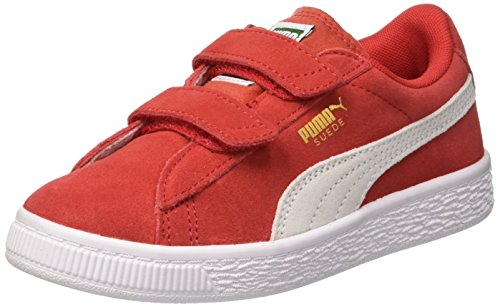 Puma Unisex-Kinder Suede 2 Straps PS Sneaker, Rot (High Risk Red White), 31 EU -