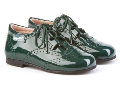 ANGELITOS , Chaussures de ville à lacets pour garçon Vert