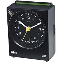 Braun Reloj de alarma analógica de control de voz