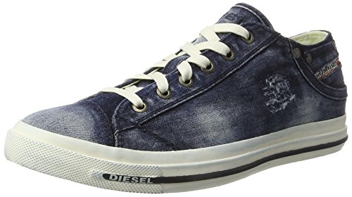 Diesel Herren Magnete Exposure Low I Sneaker, Blau (T6067 Indigo), 40 EU (Sneaker Low Exposure)