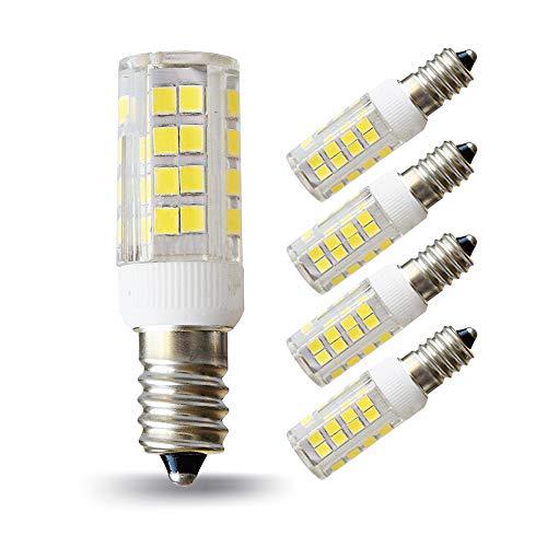 Lampaous 5W LED E14 Mais Lampe, ersatz für 40W Glühlampen, 6000K Kaltweiß 360°Abstrahwinkel 230VAC, LED Birnen Leuchtmittel Leuchte 4er Pack
