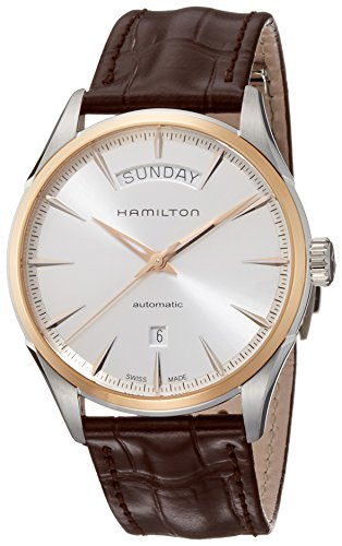 Hamilton-Mens-Jazzmaster-Day-Date-42mm-Brown-Leather-Band-Steel-Case-Automatic-Analog-Watch-H42525551