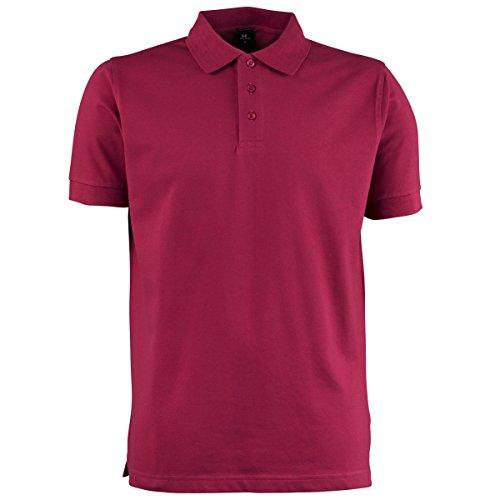 Tee Jays Herren Luxury Stretch Polo-Shirt, Kurzarm Weinrot
