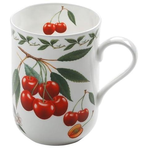 Maxwell & Williams PB8002 Orchard Fruits Becher, Kaffeebecher, Tasse, Motiv: Kirsche, in Geschenkbox, Porzellan