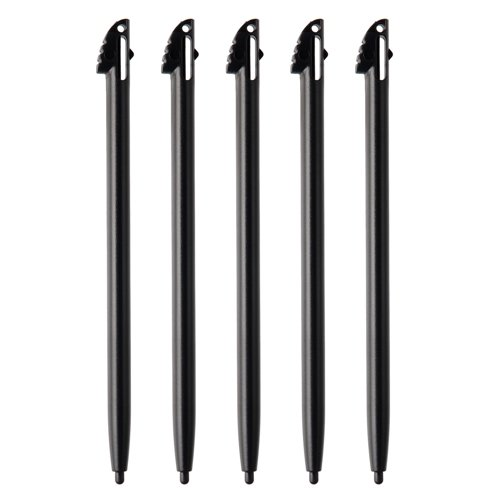 5pc Black Plastic Stylus Touch Pen For Nintendo 3ds N3DS XL LL