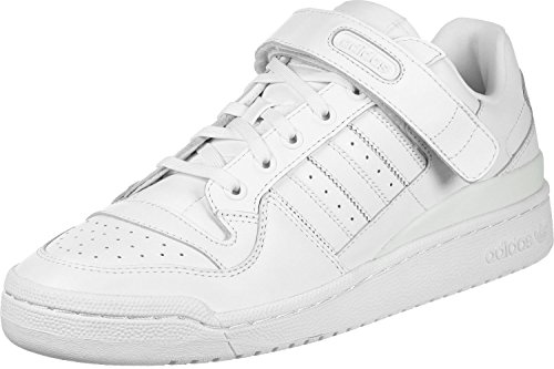 adidas Herren Forum Low Refined Gymnastikschuhe, Elfenbein (Ftwr White/Ftwr White/Core Black), 42 EU (Schuhe Forum Adidas)
