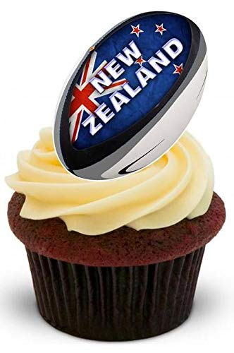 RUGBY BALL 2015 NEW ZEALAND - 12 Edible Stand Up Premium