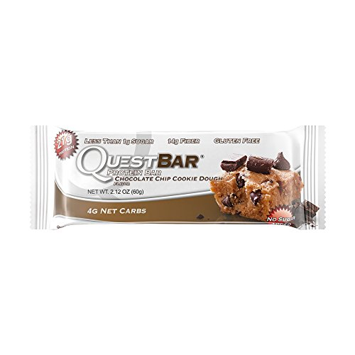 Quest Nutrition 60g Chocolate Chip Cookie Dough Protein Bar - Pack of 12