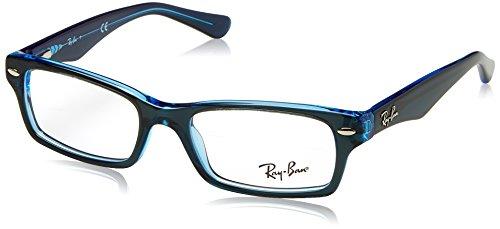 Ray-Ban Mädchen 0RY 1530 3667 48 Brillengestelle, Blau (Topo On Blue Fluo)