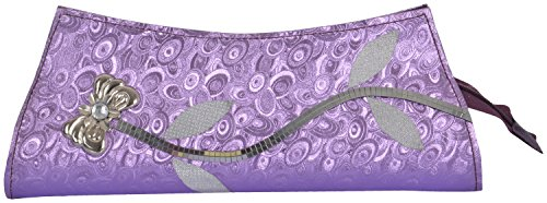 Yazlyn Collection Women's Clutch (Purple, YZ172)  available at amazon for Rs.98