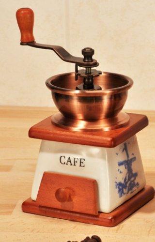 Antik Look Kaffeemühle Espressomühle Kaffee Retro Mühle Keramik Mahlwerk (Antike Kaffeemühle)