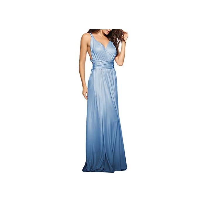 MAYOGO Sommerkleid Damen Festlich Kleider Damen Multiway-Kleid Lang Ombre Kleid Elegant Farbverlauf Maxikleider…
