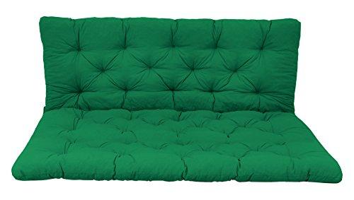 Ambientehome Palettenkissen mit Rückenlehne, grün, Sitzpolster 120 x 80, Rückenkissen 120 x 60 cm, Indoor & Outdoor
