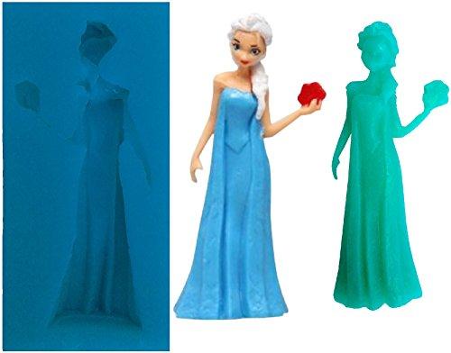 Inception Pro Infinite Elsas Silikonform für Lebensmittel Frozene Karikatur 2D - Zuckerpaste - Fluxes - Kuchen - Pfannkuchen - Muffins - Dekorationen
