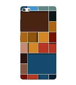 Fiobs Designer Back Case Cover for Gionee Elife S7 (Cool Patterns Design Art Shapes Sundar)