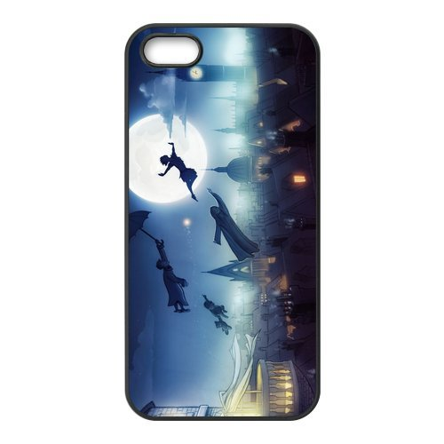 iPhone 5S Coque de protection en TPU pour, Customize Peter Pan Case for iPhone 5 5S, [Peter Pan] Transparent Back Cover étui en silicone pour iPhone 5/5S