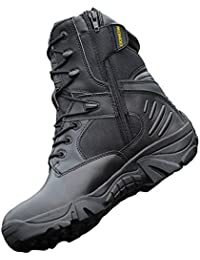 JPFCAK, Zapatos para Fanáticos del Ejército Al Aire Libre Botas Tácticas Altas Botas De Combate En El Desierto Botas Militares para Hombres Botas para Volar Zapatos Militares, 38-44