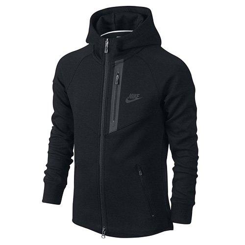 Nike 728205-010 Sweat-Shirt à Capuche Garçon, Noir/Noir/Noir, FR : L (Taille Fabricant : L)
