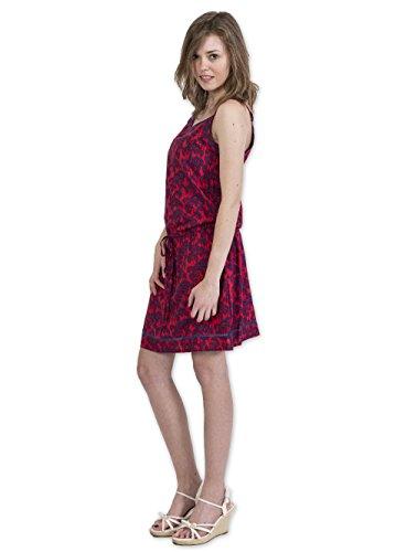 Coton Du Monde - Robe AMELYSIA Imprimé 31 Rouge Multicolore