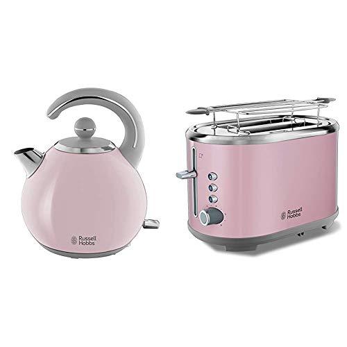 Russell Hobbs Bubble Soft Pink Wasserkocher + Toaster