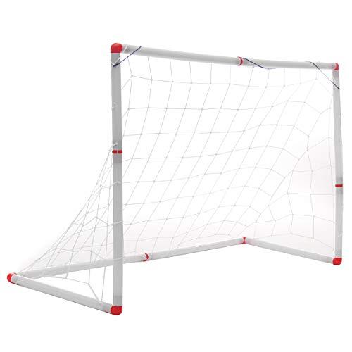 MASODHDFX 1 stücke 126x45x71 cm Kinder Mini Fußball Tor Torpfosten Net Ball Pumpe Fußball Tür Outdoor ABS Sport Spiel Training Spielzeug
