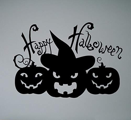 yiyitop Dunkelheit Nacht Fledermäuse Kürbis Halloween Baum Wandkunst Aufkleber Aufkleber Abnehmbare Vinyl Transfer Schablone Wandhaupt Zimmer 30 * 43 cm (Fledermaus Halloween Kürbisse Schablonen)