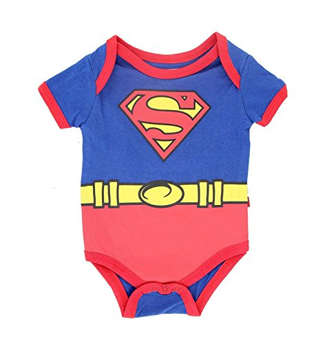 Superman Suit Blue Baby Onesie Romper (3-6 Months) (Baby-creeper Blaue)