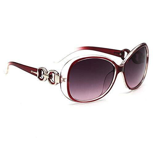 Mode Fahren polarisierten Sonnenbrillen-Kupfer-Form Rot Sonnenbrille Damenmode Retro-Sonnenbrille Anti-UVSonnenbrille