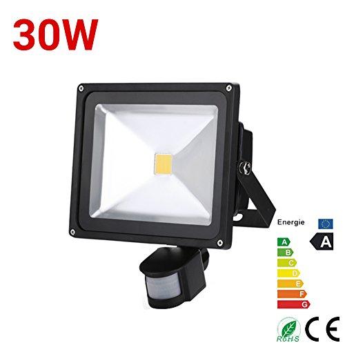 1x 30W Warmweiß LED Strahler Flutlicht Licht Objekt Beleuchtung mit Bewegungsmelder