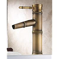 XX&GX Ottone antico finitura lavandino rubinetto del bagno - Bamboo Shape Design