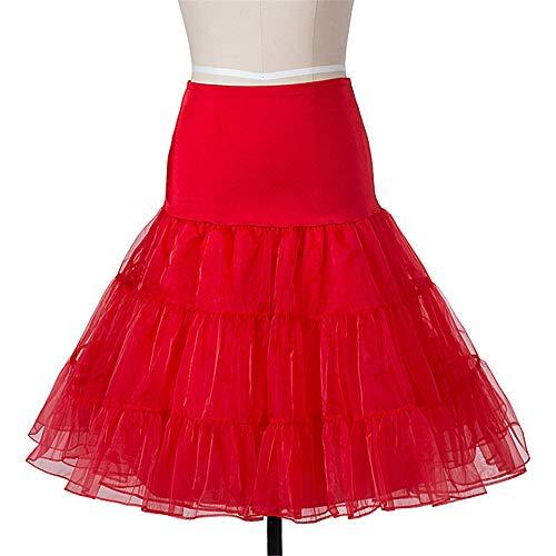 Rock Schaukel Petticoat Unterrock Flauschigen Pettiskirt für Hochzeit Braut Vintage 50er Jahre Audrey Hepburn Frauen Ballkleid Belly Dance Satin