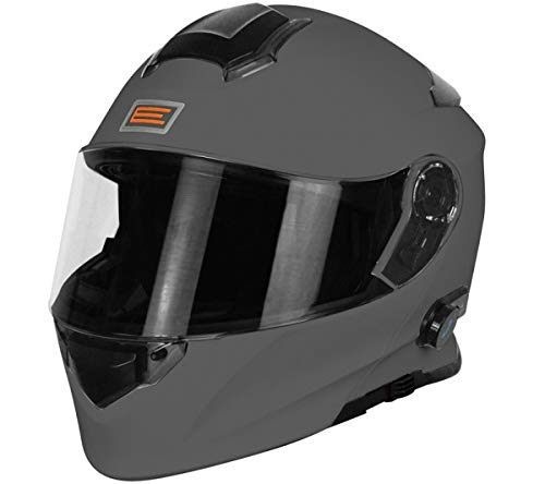 Origine Helmets 204271723600005 Delta Solid Matt Casco Apribile con Bluetooth Integrato, Titanio, L