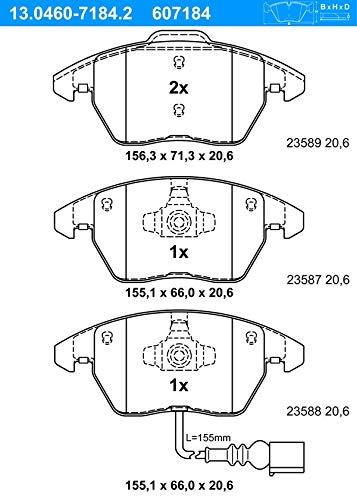 Bremsbelagsatz, Scheibenbremse ATE 13.0460-7184.2 Bremsbelagsatz Bremsanlage
