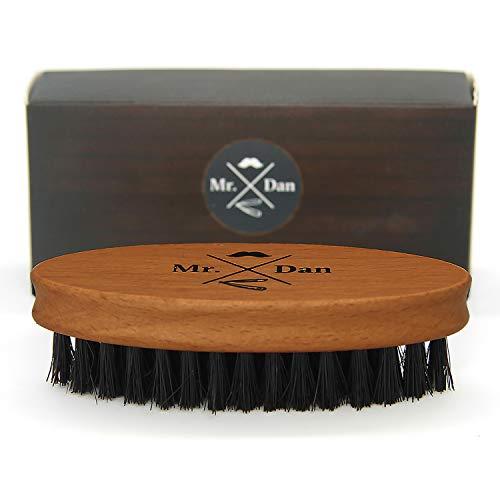 Mr. Dan by TROP Bartbürste mit reinen Wildschweinborsten, Griff aus Shima Superba Holz - für einen schönen & gepflegten Bart