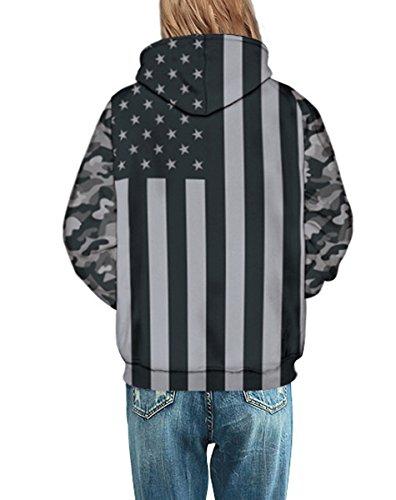 FOURSTEEDS -  Felpa  - Maniche lunghe  - Donna Stars Stripes Flag