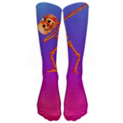 Women Teens Casual Warm Winter Knee High Socks Pumpkin Dabbing Hip Hop Skull Skeleton Great Quality Men 1 Pair Long Tube Stockings for Athletic Football -