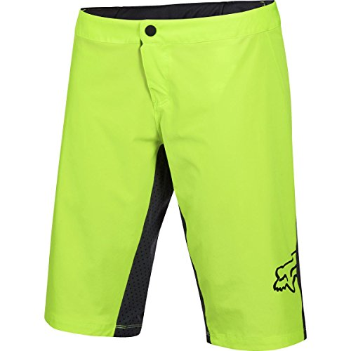 Fox Mtb Girls Shorts 2016 Lynx - 4 Way Stretch - Removeable Pro Liner Fluoresce (Small , Gelb) (Lynx Shorts)