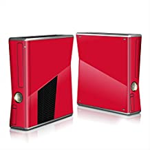 TCOS TECH Xbox 360 Slim S Solid Red Vinyl Skin Sticker For Xbox 360 Slim Console & Controller