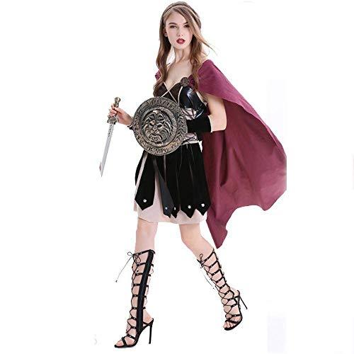 n Ritter Cavalier Kleidung Für Erwachsene Frauen Cosplay Halloween Römischen Weiblichen Krieger Pirate COS Spanisch Gladiator Kostüm Outfits (Size : M) ()