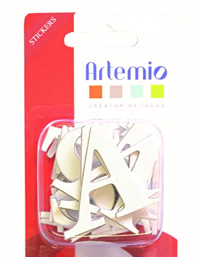 Artemio Spanplatten Aufkleber, Alphabet, Großbuchstaben, weiß -