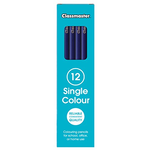 Classmaster CP12PBU Colouring Pencils, Prussian Blue (Pack of 12)
