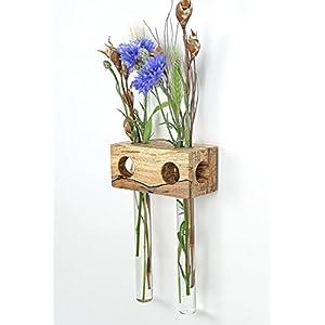 Fenstervase Buche gestockt 2er Blumenvase Test Tube Vase Flower Vase